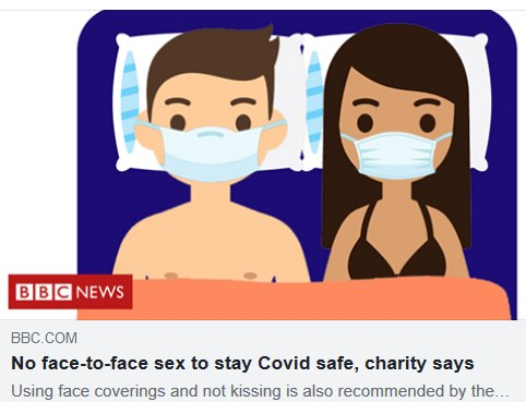 BBC News: no face to face sex