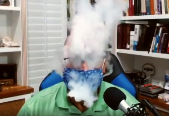 A vaping test with different face masks shows, the outbreath is not filtered