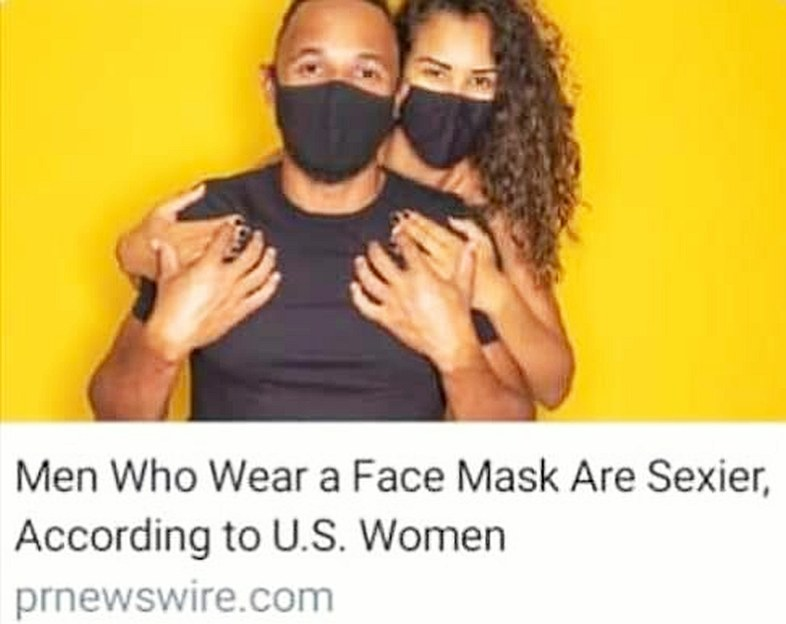 men wearing face masks are sexy